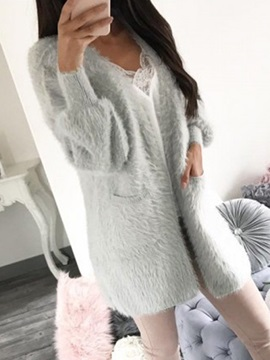 Artificial Fur Mid Length Womens Coat