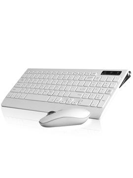 Portable Ultra Thin Wireless Keyboard Wireless Mouse Combo