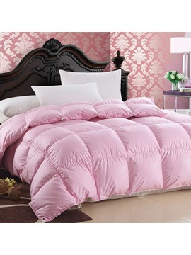 Comfortable Box Stitch Pink Goose Down Duvet Cover Insert