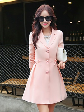 Long Sleeve Mid Length Thin Womens Trench Coat