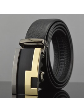Classic Cowhide Automatic Buckle Mens Belt