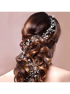 Brides 1m Handmade Pearl Wedding Hair Accessories