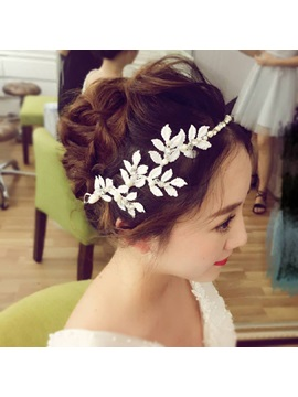 Hot European Style White Leaft Brides Hair Accessories
