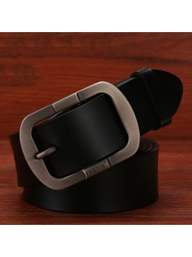 Classic Cowhide Pin Buckle Mens Business Belt