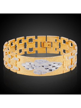 European Style Hollow Out 18k Gold Plating Bracelet