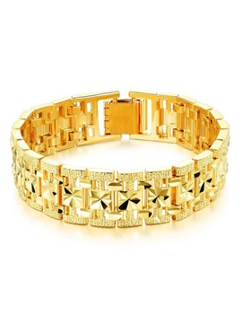 European Style 18k Gold Plating Mens Bracelet