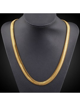 Mens 18k Gold Plating Mens Necklace