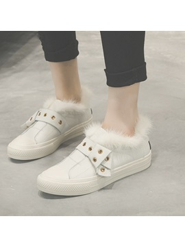 Pu Slip On Warm Womens Chic Sneakers