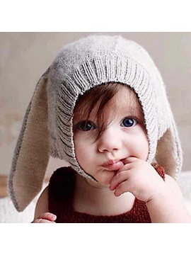 Cute Big Ear Plain Kids Hat