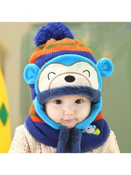 Lovely Monkey Designed Kids Hat