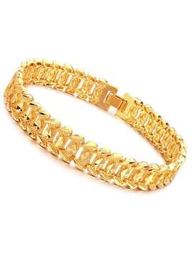Mens 18k Gold Plating Bracelet