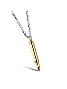 Titanium Steel Mens Pendant Necklace