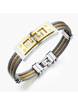Creative Titanium Steel Mens Leisure Bracelet
