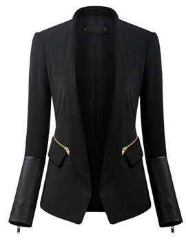 Long Sleeve Patchwork Slim Women Blazer