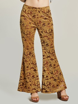 Print Wide Leg Womens Pants