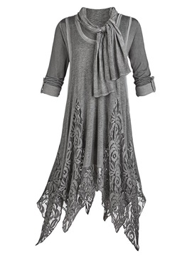 Asym Lace Womens Casual Dress