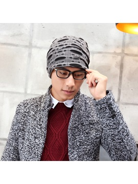 Plain Cotton Knitted Mens Hoop Hats