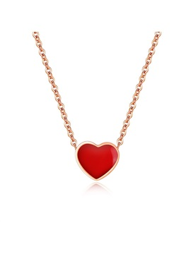 Heart Shaped Link Chain Japanese Style Necklace
