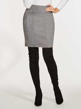 Plain Thick Womens Skirt
