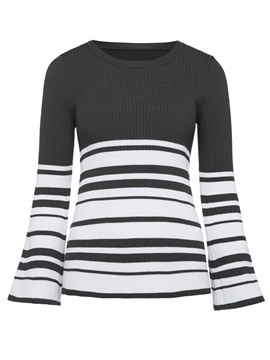 Tidebuy Scoop Striped Womens Sweater