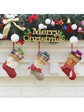 Christmas Ornaments Gifts Socks Three Packs