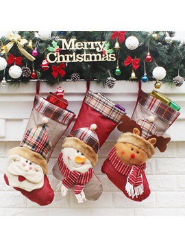 Santa Claus 3pc Gift Socks Sweet Christmas Design