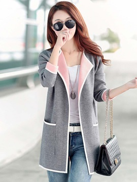 Long Sleeve Single Womens Knitwear