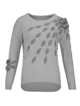 Beading Decorative Vacation Pullover Womens Sweater