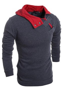 Tidebuy Hooded Color Block Mens Hoodie