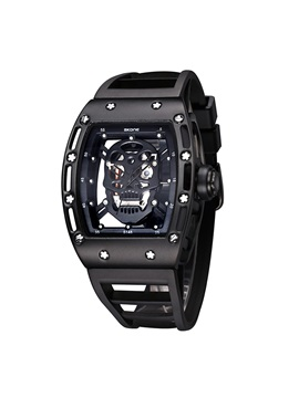 Hollow Skull With Luminous Mens Watch