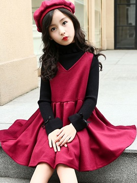 Sleeveless Princess Dress With Bud Cap Girls Outfit