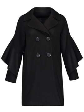 Tidebuy Mid Length Patchwork Womens Overcoat