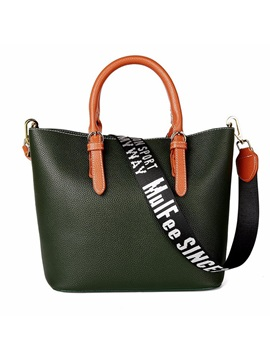 Letter Prints Strap Design Shoulder Bag