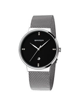 Quartz Smooth Mineral Glass Mens Watch