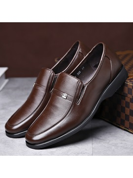 Pu Slip On Low Cut Upper Plain Dress Shoes