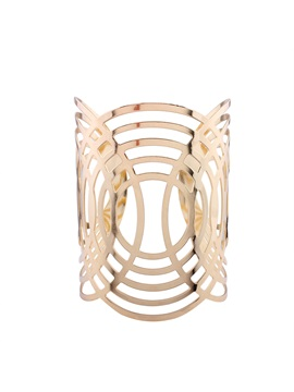 Concise Hollow Annular Pattern Wide Bangle