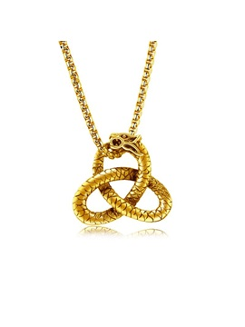 Ethnic Golden Serpentine Jack Chain Mens Necklace