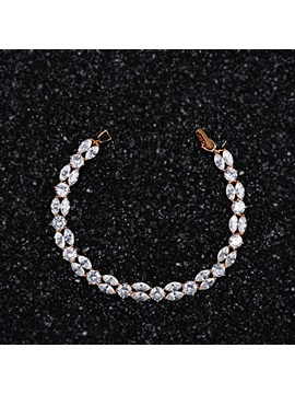 Hot Sale Zircon Inlaid Double Layers Charm Bracelet