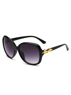 Pc Frame Fox Metal Decorated Anti Uv Sunglasses For Women