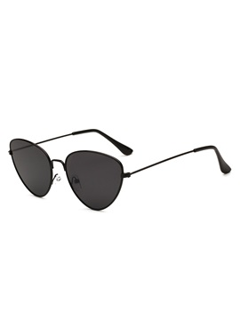 Thin Metal Frame Cats Eye Design Anti Uv Womens Sunglasses
