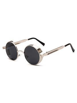 Round Anti Uv Metal Frame Unique Women Sunglasses
