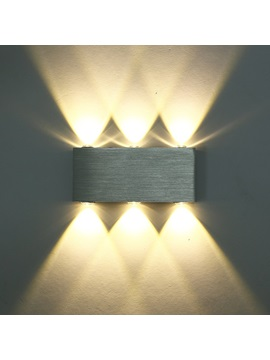 Aluminum Modern 6 Led 6w Up Down Wall Lights For Bedroom Living Room