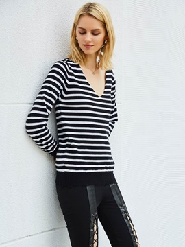 Tidebuy Straps Long Sleeves Womens Sweater