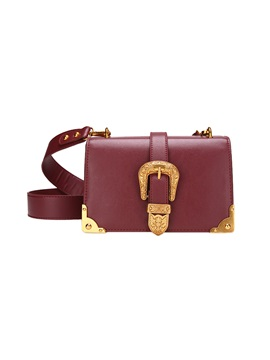 Vogue Belt Decorated Pu Cross Body Bag
