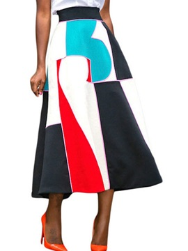Tidebuy Print Long A Line Womens Skirt