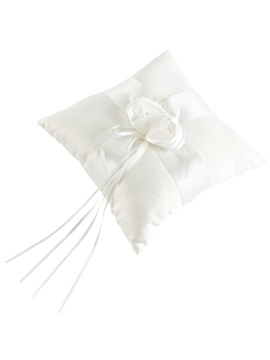 Pearls Satin Ribbons Wedding Ring Pillow