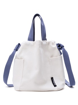 Casual Color Block Canvas Cross Body Bag