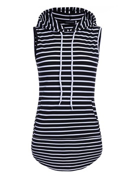 Slim Stripe Single Womens Tank Top