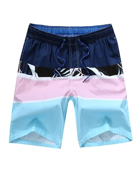 Tidebuy Color Block Mens Beach Board Shorts