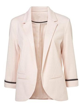 Nine Point Sleeve Slim Womens Blazer